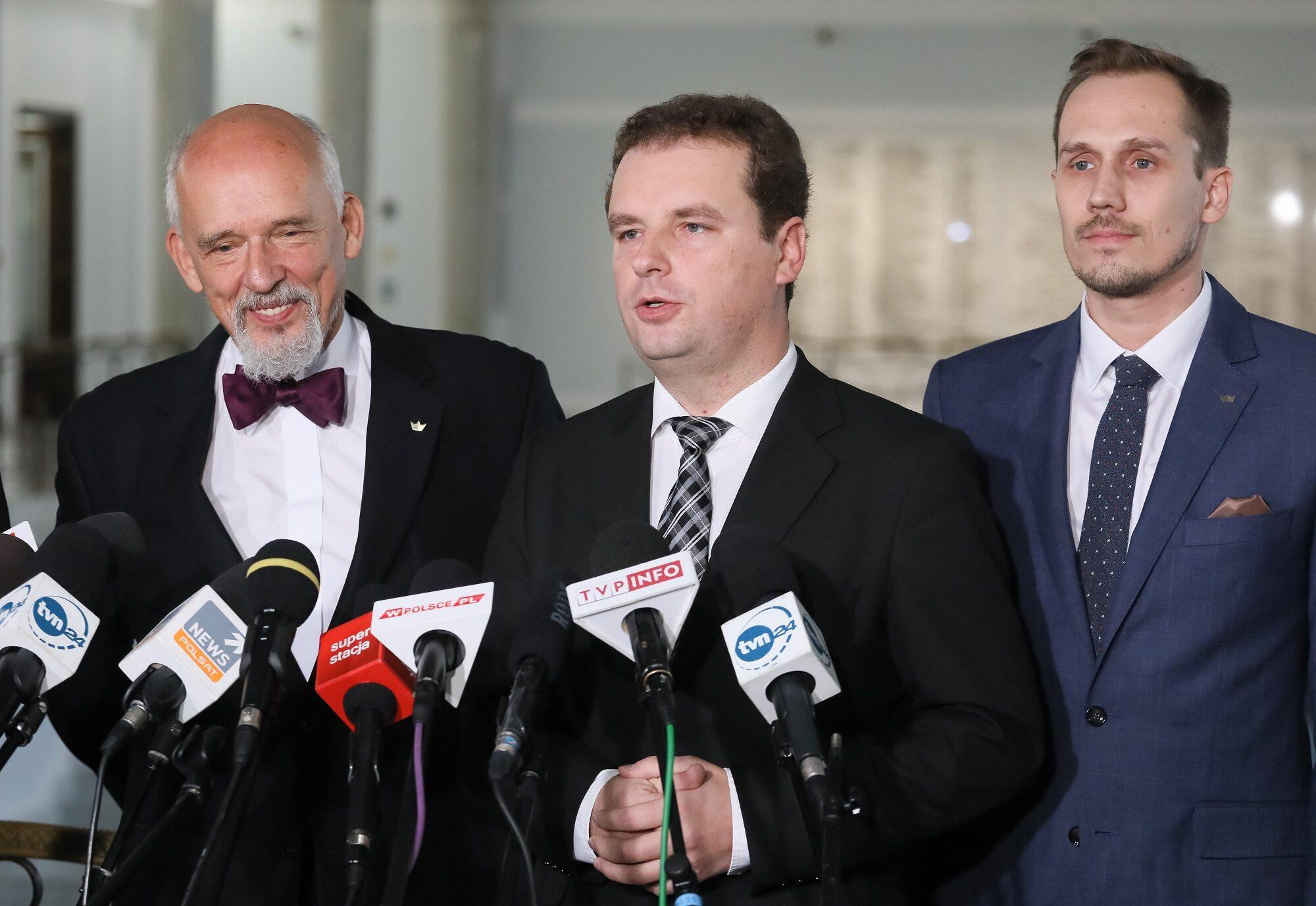Janusz Korwin-Mikke, Jacek Wilk, Konrad Berkowicz