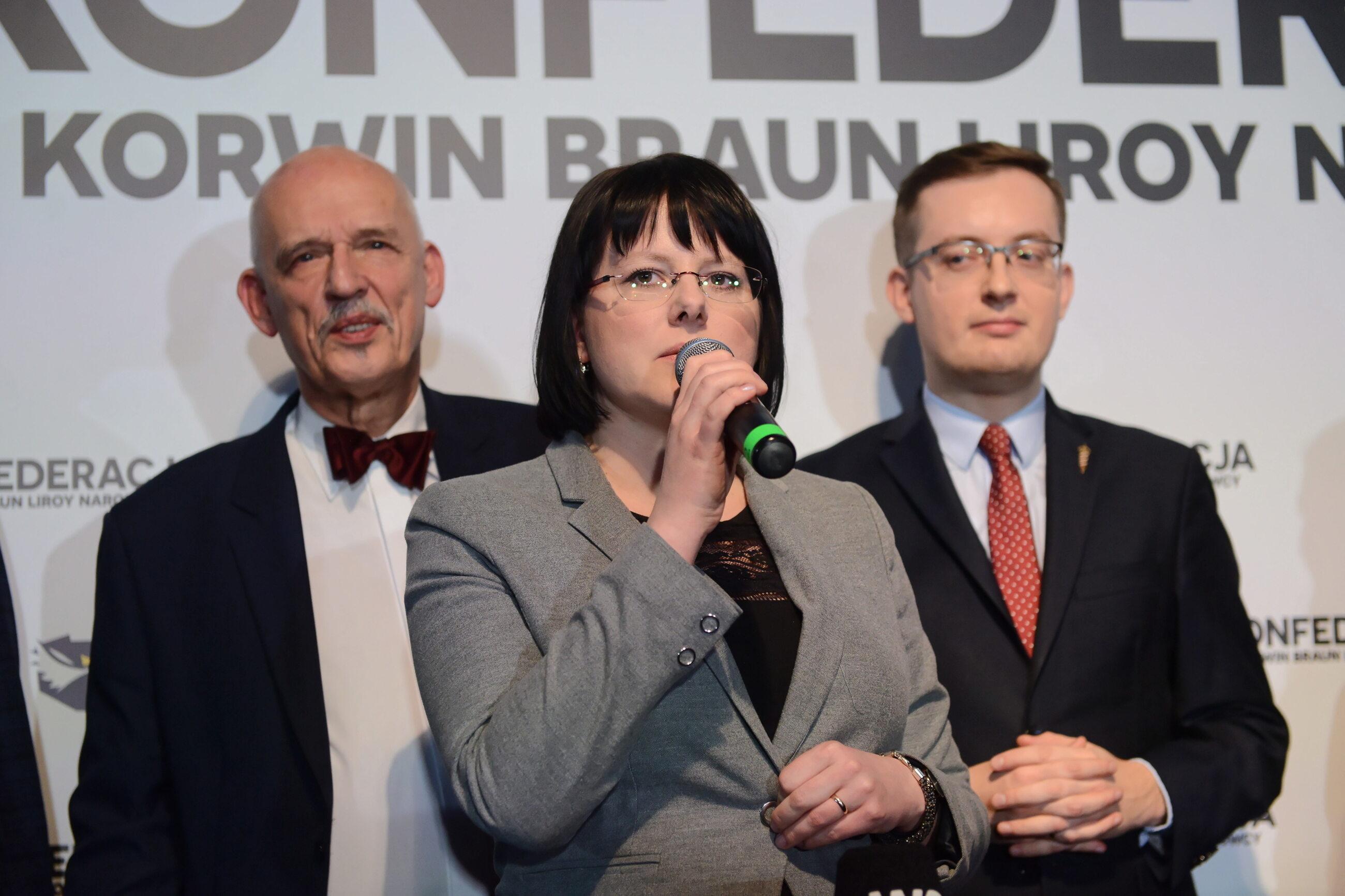 Janusz Korwin-Mikke, Kaja Godek, Robert Winnicki