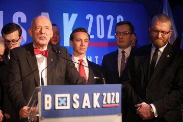 Janusz Korwin-Mikke, Krzysztof Bosak, Robert Winnicki, Grzegorz Braun