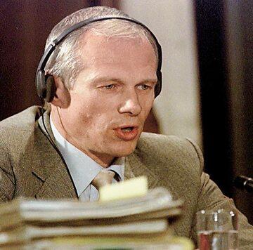 Janusz Waluś podczas składania zeznań przed Komisją Prawdy i Pojednania w 1997 r.