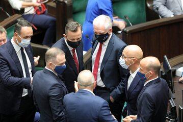 Jarosław Gowin naradza się z politykami opozycji w Sejmie