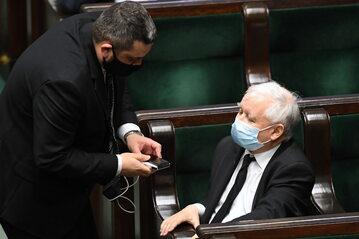 Jarosław Kaczyński oraz Krzysztof Sobolewski