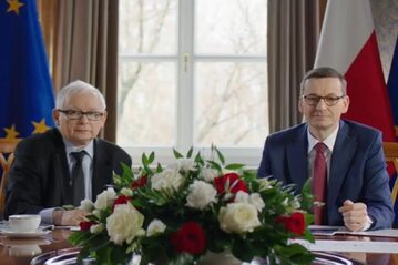Jarosław Kaczyński oraz Mateusz Morawiecki