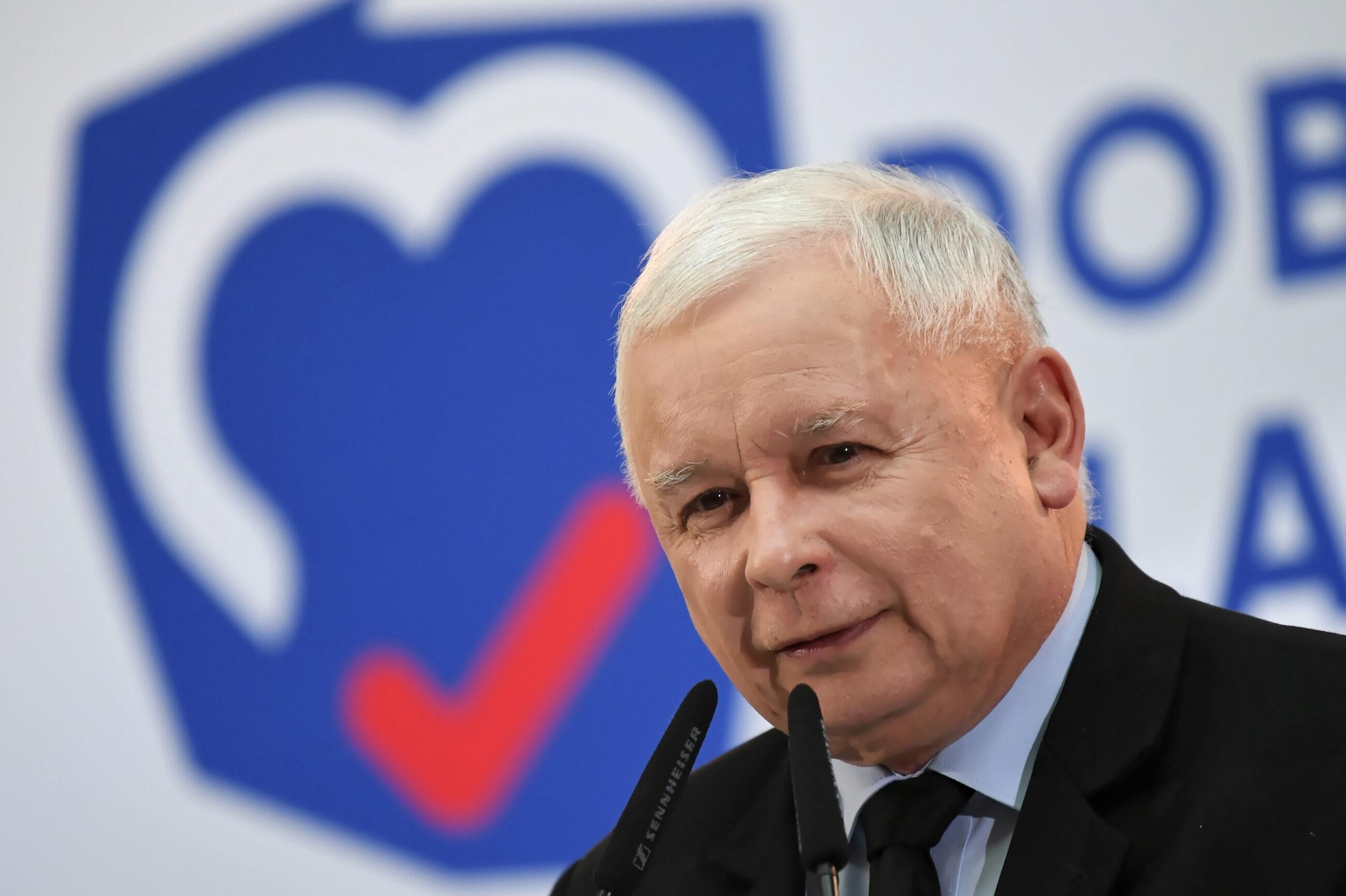 Jarosław Kaczyński podczas konwencji PiS w Gdańsku