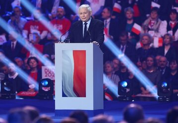 Jarosław Kaczyński podczas konwencji PiS w Warszawie