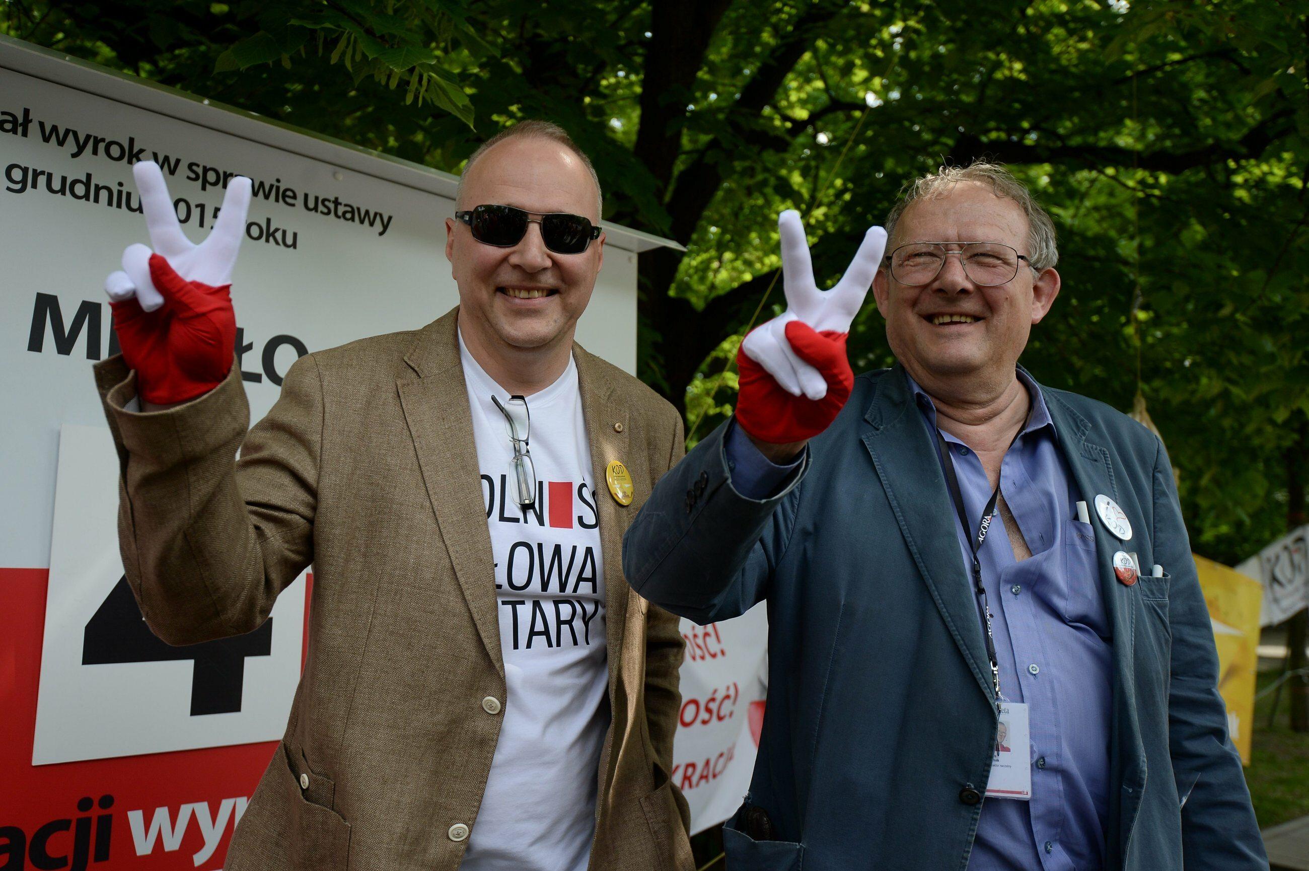 Jarosław Kurski i Adam Michnik (Gazeta Wyborcza)