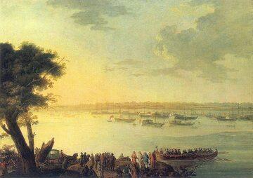 J.B. Plersch, Odjazd Katarzyny II z Kaniowa