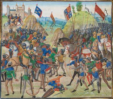 Jean Froissart, Bitwa pod Crecy