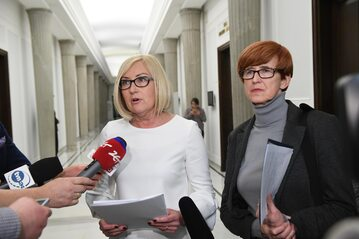 Joanna Kopcińska i Elżbieta Rafalska