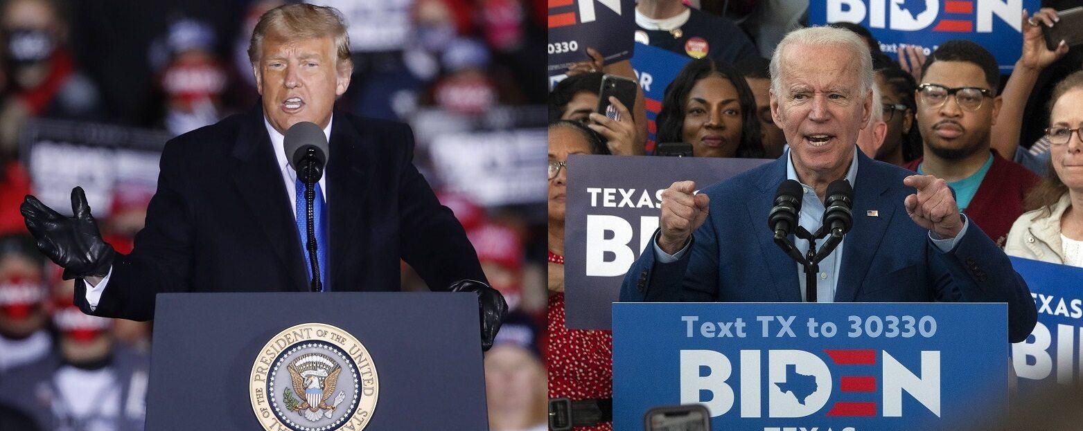 Joe Biden i Donald Trump to główni kandydaci w wyborach prezydenckich.