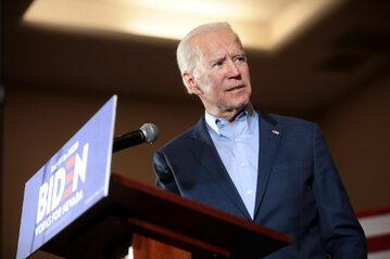Joe Biden w trakcie kampanii wyborczej w 2020 r.
