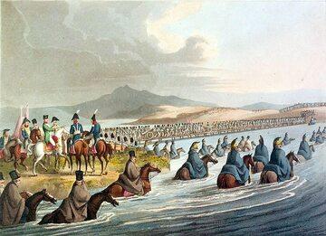 John Heaveside, Francuska Wielka Armia przekracza Niemen