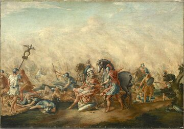 John Trumbull, Śmierć Emiliusza Paulusa na polu bitwy (bitwa pod Kannami)