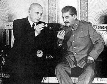 Józef Cyrankiewicz i Józef Stalin, 1947 rok.