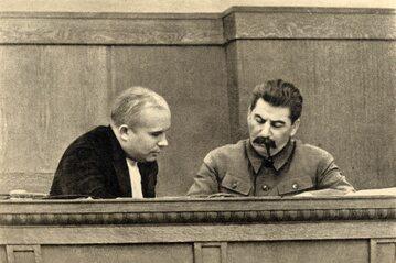 Józef Stalin i Nikita Chruszczow