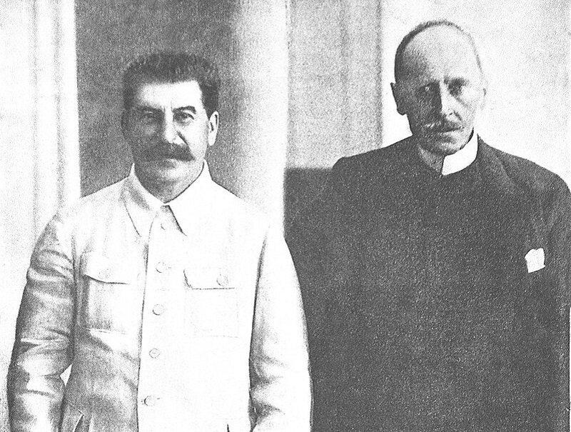 Józef Stalin i Romain Rolland, francuski pisarz.