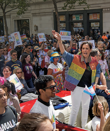 Kamala Harris, obecnie nowa wiceprezydent USA, podczas parady równości w San Francisco (Kalifornia), 30 lipca 2019 r.