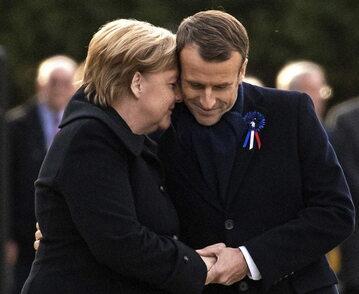Kanclerz Niemiec Angela Merkel i prezydent Francji Emmanuel Macron