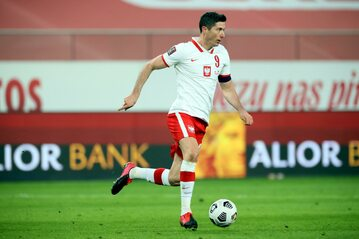 Kapitan reprezentacji Polski w piłce nożnej Robert Lewandowski