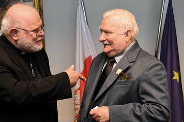 Kard. Reinhard Marx i Lech Wałęsa