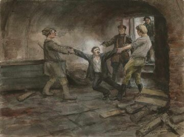 Katownia Czeka, obraz Iwana Władimirowa (1869–1947)