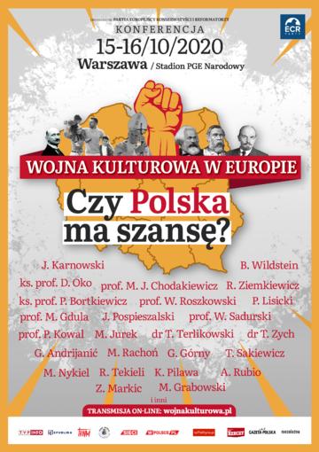 """Konferencja """"Wojna kulturowa w Europie"""" odbędzie się w dniach 15-16.10"""
