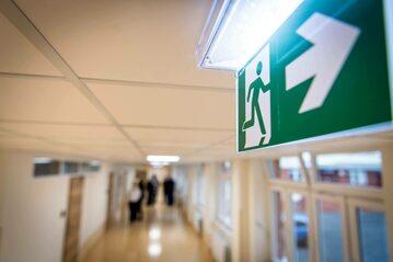 Korytarz szpitalny. Fot. zdjęcie ilustracyjne