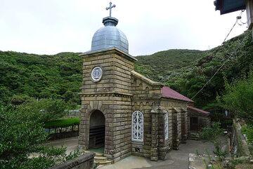 Kościół na wyspie Kashira-ga-shima z 1910 roku. Japonia