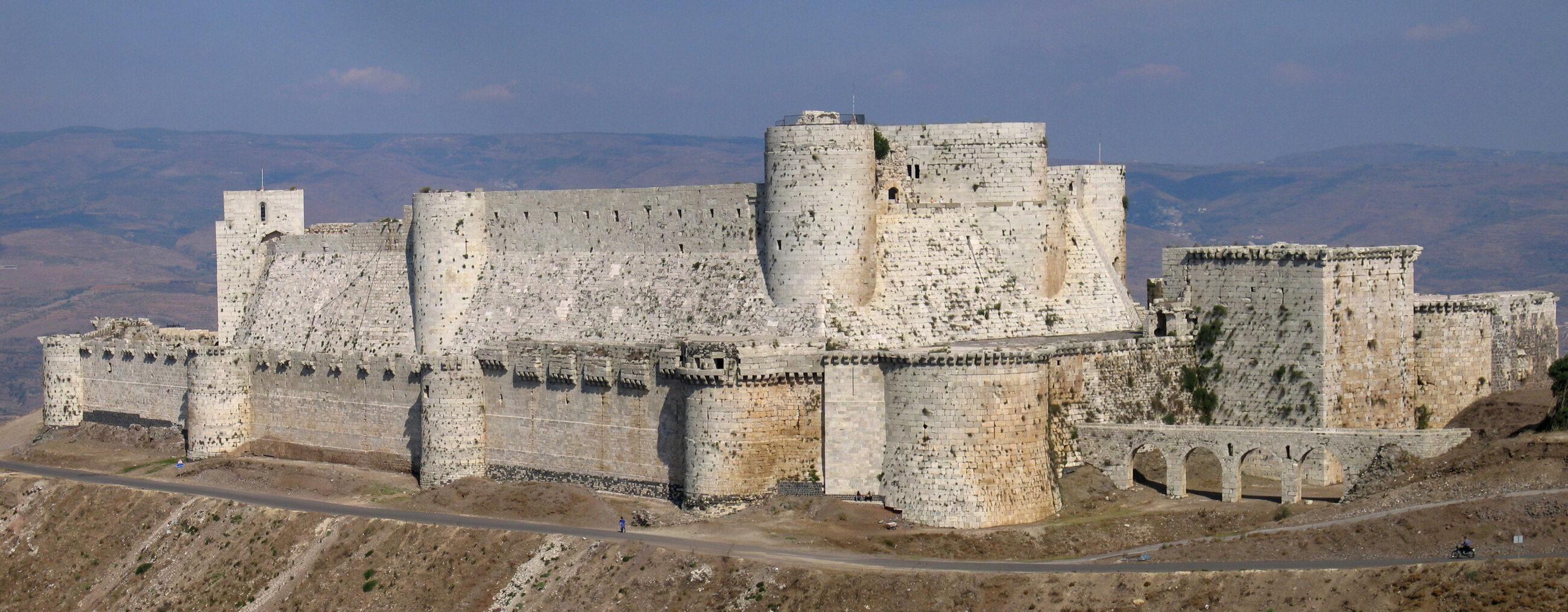 Krak des Chevaliers - joannicka twierdza twierdza uratowana w 1162 r. dzięki odsieczy, w której udział brali prawdopodobnie rycerze z Polski