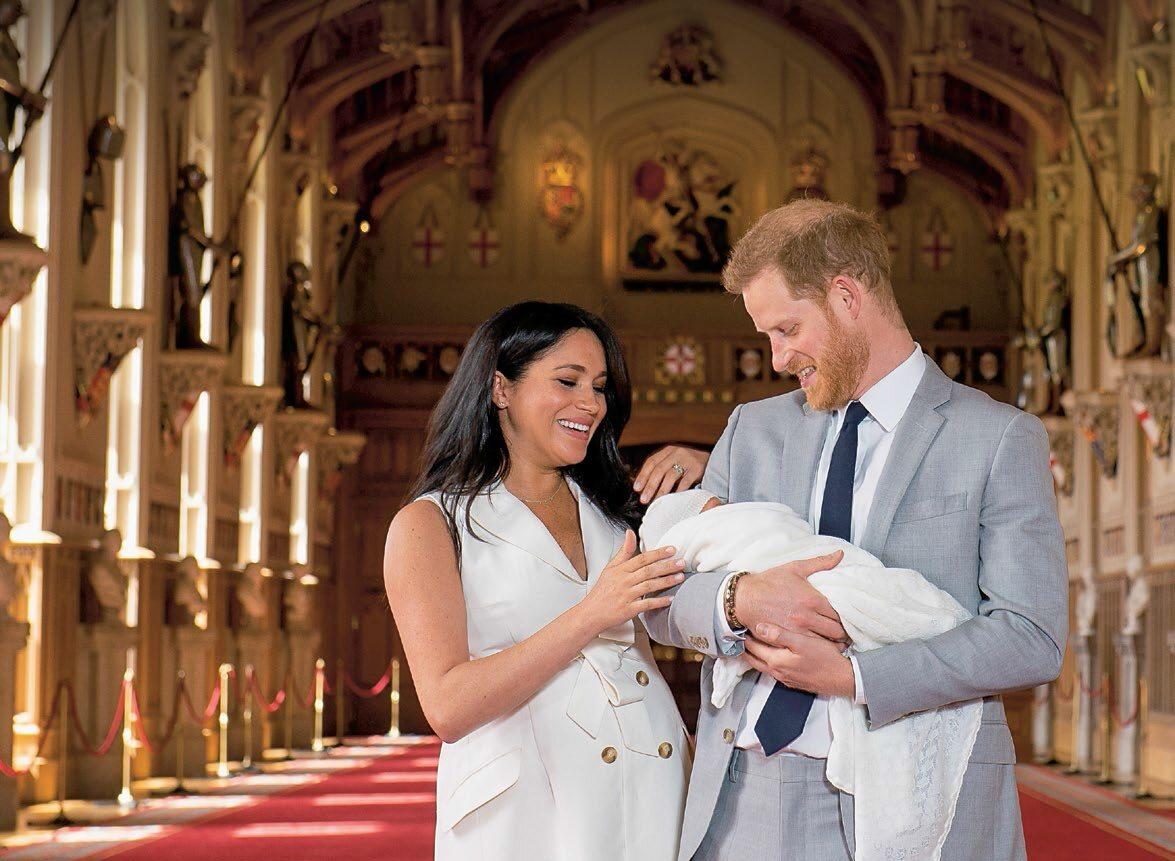 Książę Harry i Meghan Markle z synem