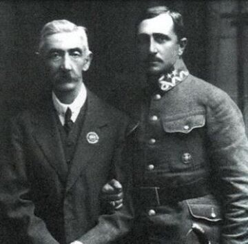 Legionista Henryk Hertz-Barwiński ze stryjem Leonem, powstańcem styczniowym