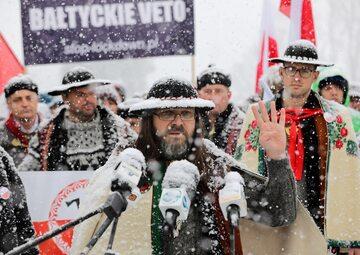 Lider aktywistów Góralskiego Veta Sebastian Pitoń