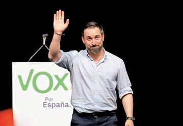 Lider hiszpańskiej partii Vox Santiago Abascal