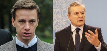 Lider Konfederacji Krzysztof Bosak i wicepremier Piotr Gliński.