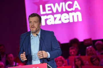 Lider partii Razem Adrian Zandberg
