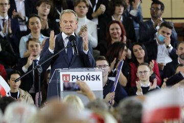 Lider Platformy Obywatelskiej Donald Tusk podczas krajowej Konwencji Platformy Obywatelskiej