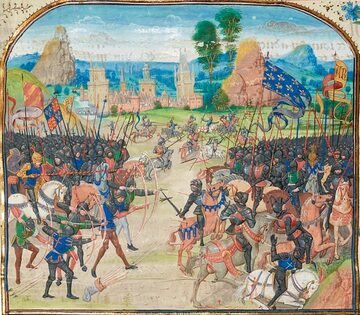 Loyset Liédet, Bitwa pod Poitiers (1356)