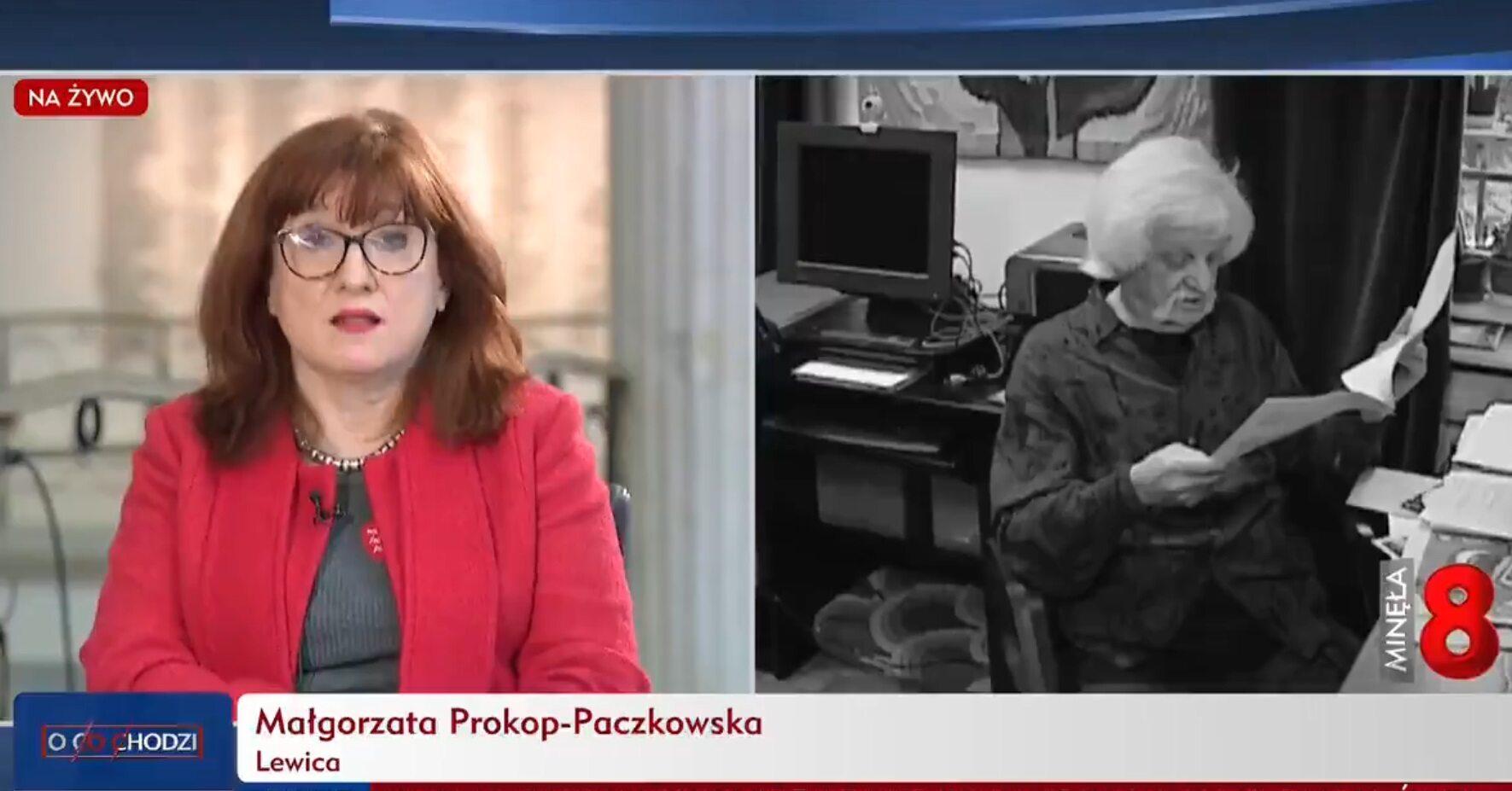 Małgorzata Prokop-Paczkowska w TVP Info
