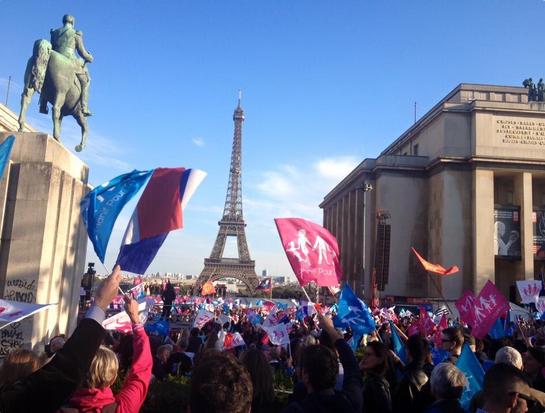 Manifestacja w obronie rodziny w Paryżu