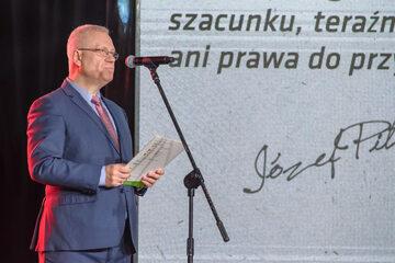 "Marek Jurek podczas gali ""Strażnik Pamięci"""