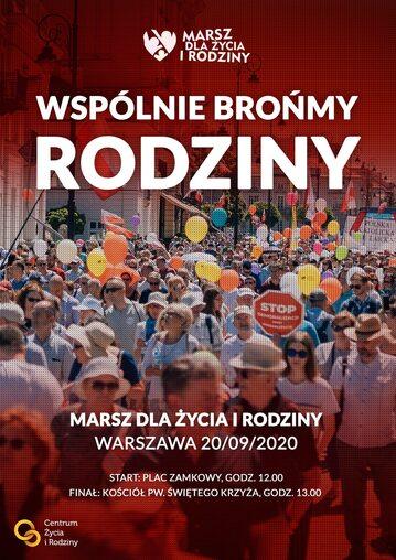 Marsz Dla Życia i Rodziny odbędzie się 20 września w Warszawie