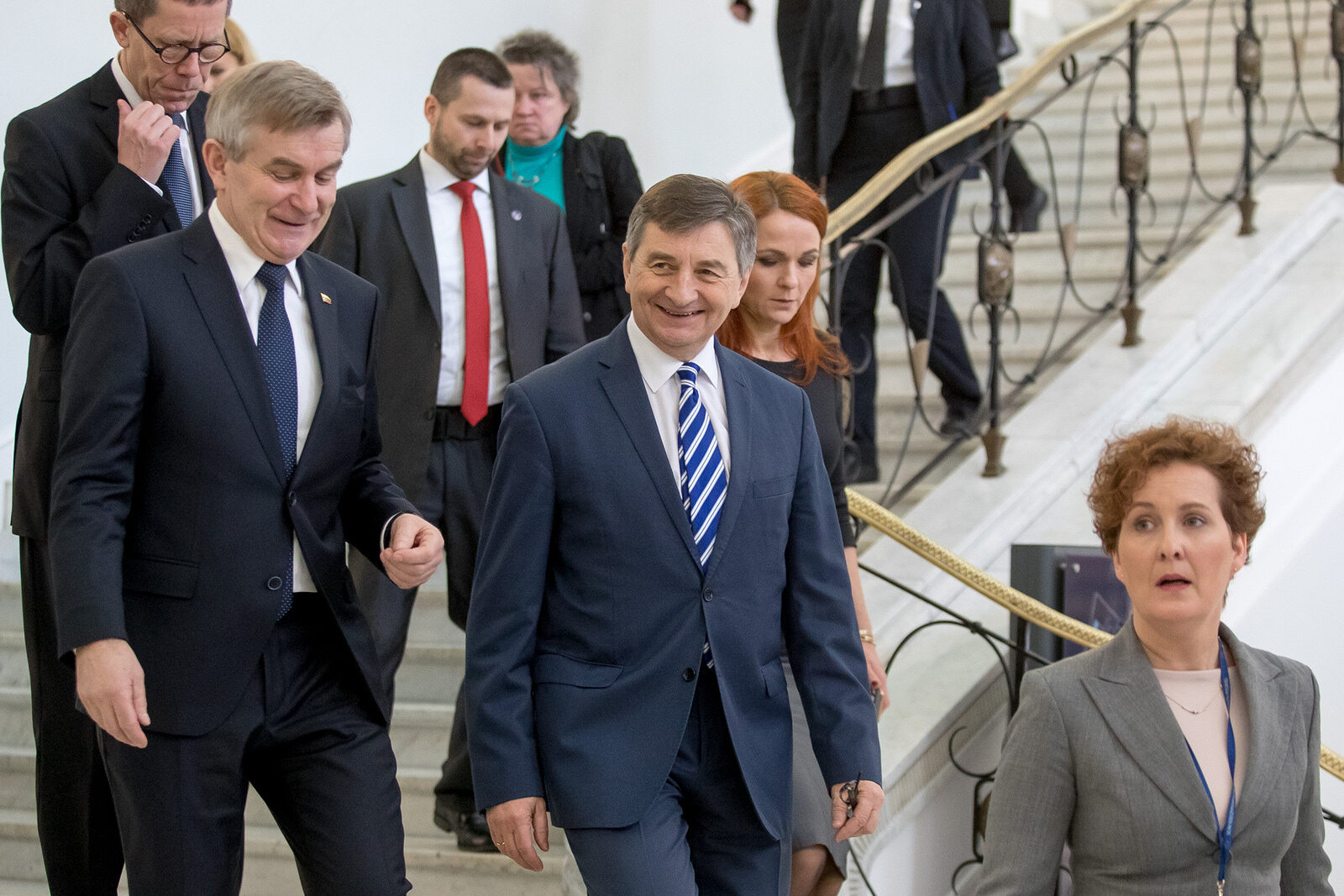 Marszałek Sejmu Marek Kuchciński z przewodniczącym litewskiego Seimasu Viktorasem Pranckietisem