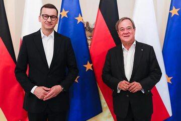 Mateusz Morawiecki i Armin Laschet