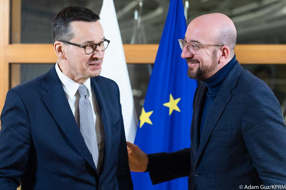 Mateusz Morawiecki i Charles Michel w Brukseli