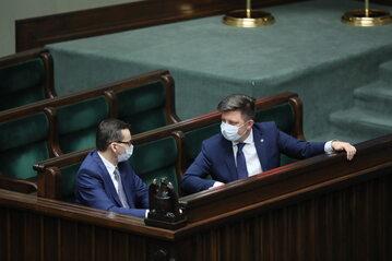 Mateusz Morawiecki i Michał Dworczyk w Sejmie
