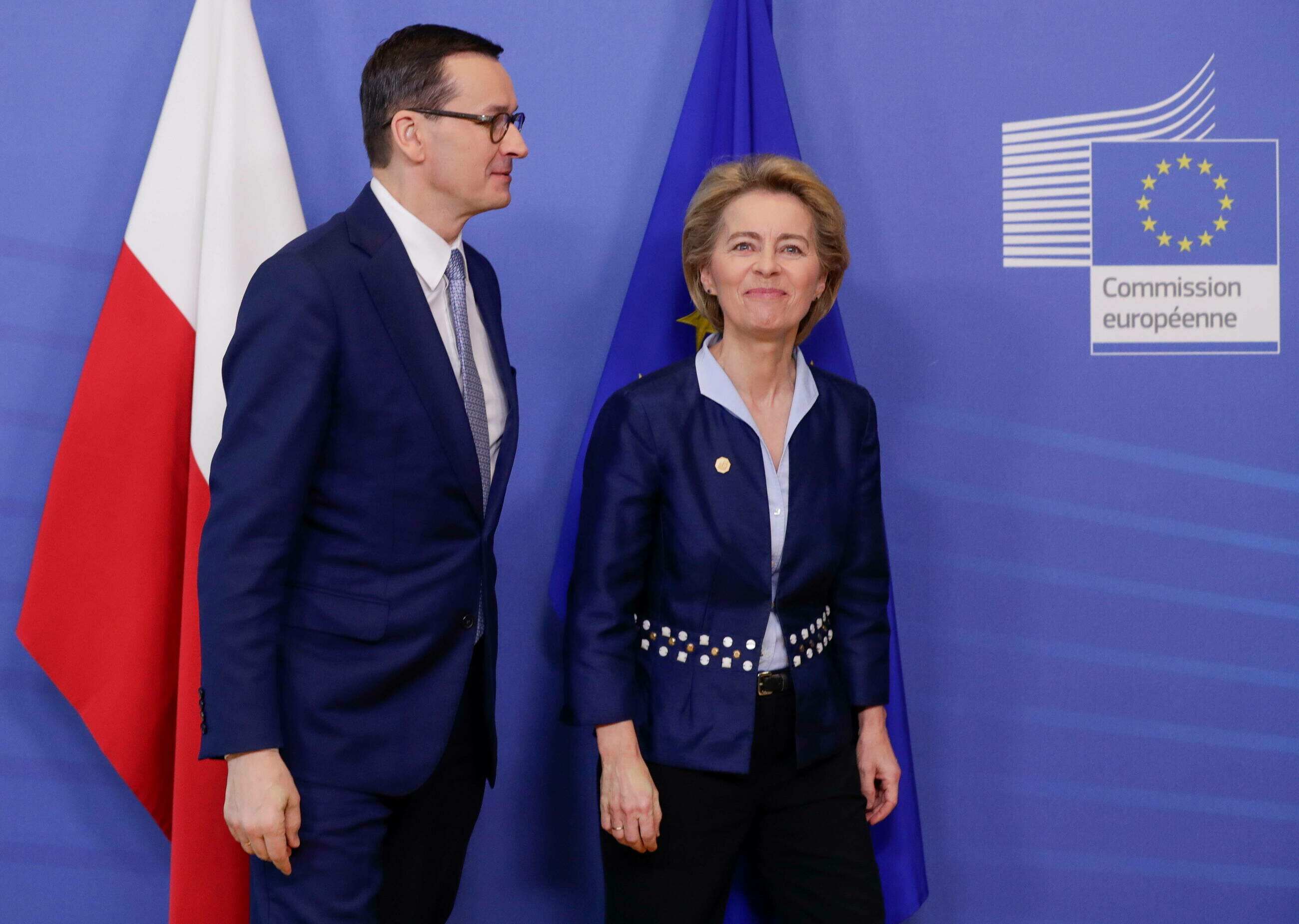 Mateusz Morawiecki i Ursula von der Leyen w Brukseli