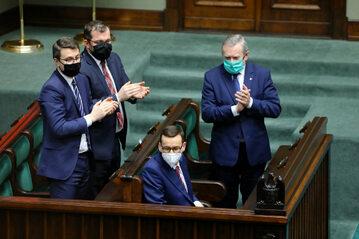 Mateusz Morawiecki, Piotr Mueller, Piotr Gliński, Grzegorz Puda
