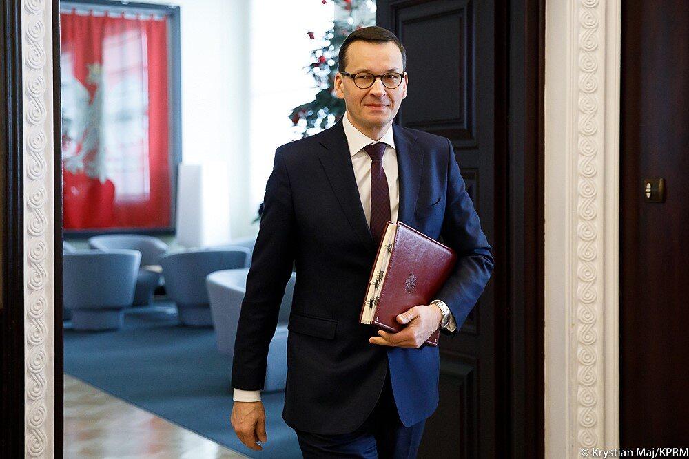 Mateusz Morawiecki podczas posiedzenia rządu