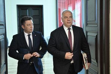 Michał Dworczyk i Jacek Sasin