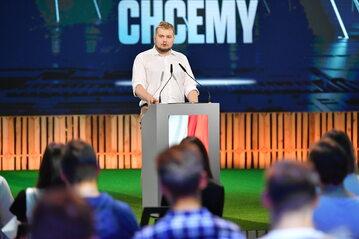 Michał Moskal podczas konwencji Forum Młodych PiS w Lublinie